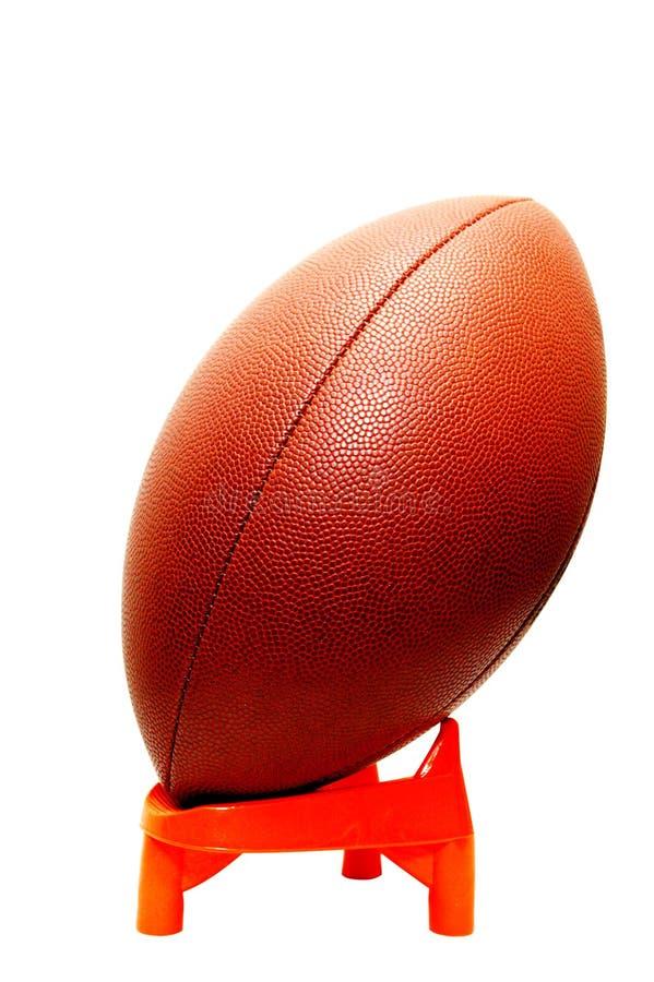American Football on Tee Isolated stock photography