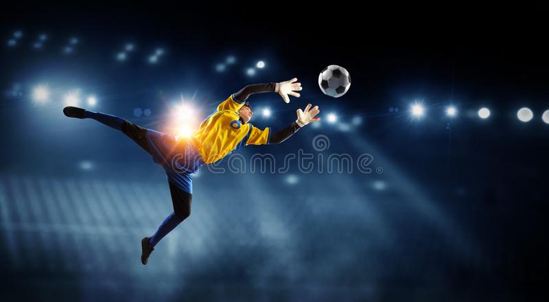 American football theme - hottest match moments. Mixed media stock photo