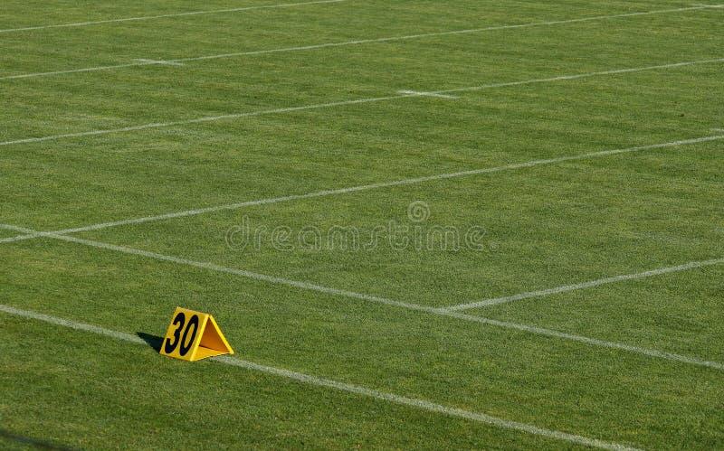 American football thirty yard marker royalty free stock photography