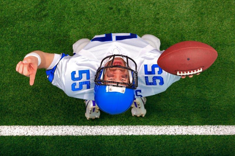 American football touchdown celebration royalty free stock photo