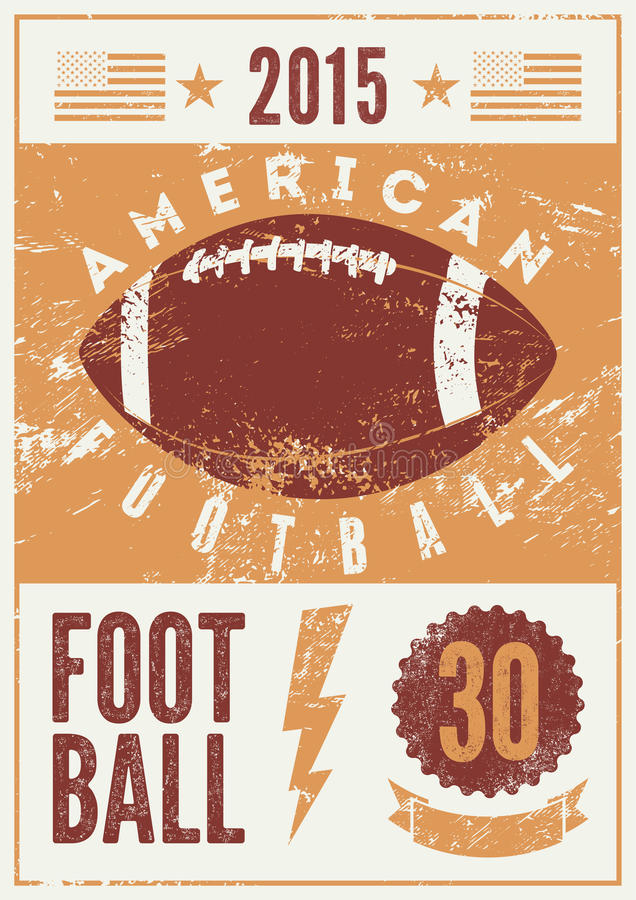 American football typographical vintage grunge style poster. Retro vector illustration. vector illustration