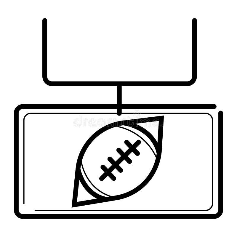 American football vector icon, sports ball vector illustration