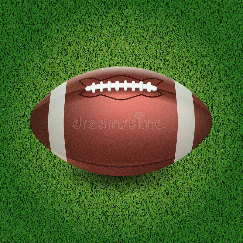 Free American Football. Vector Illustration Of The Ball On The Grass. Stock Images - 123628704