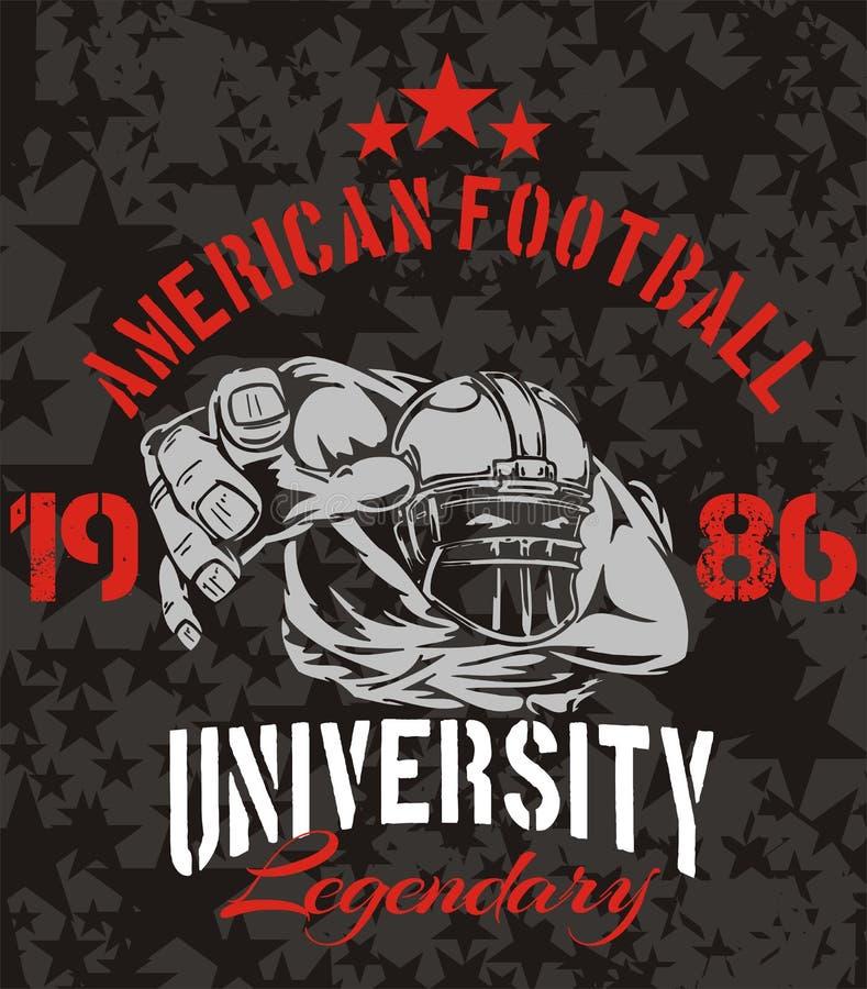 American Football - vector illustration for t- vector illustration
