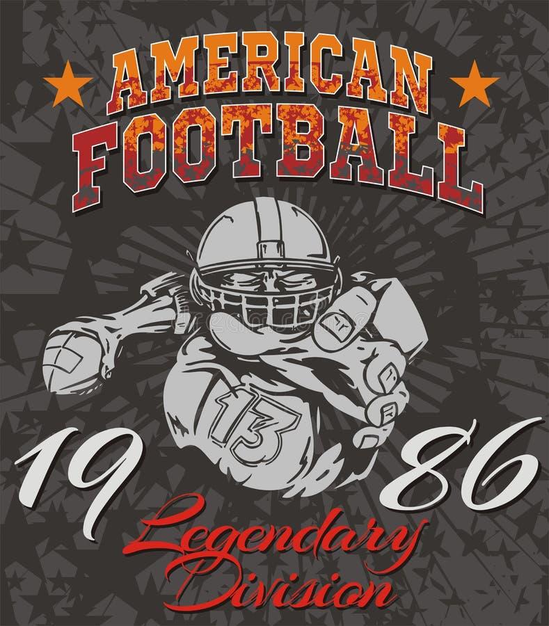 American Football - vector illustration for t- stock illustration