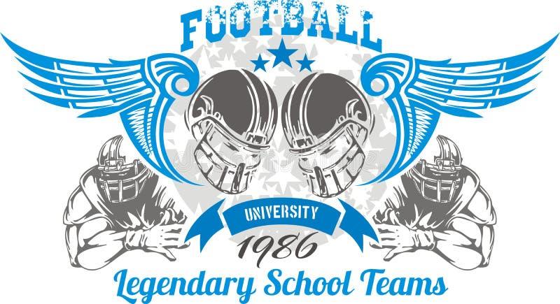 American Football - vector illustration for t- royalty free illustration