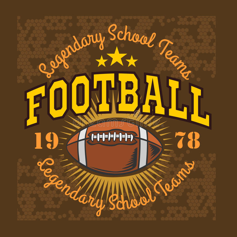 American football vintage vector labels for poster stock illustration