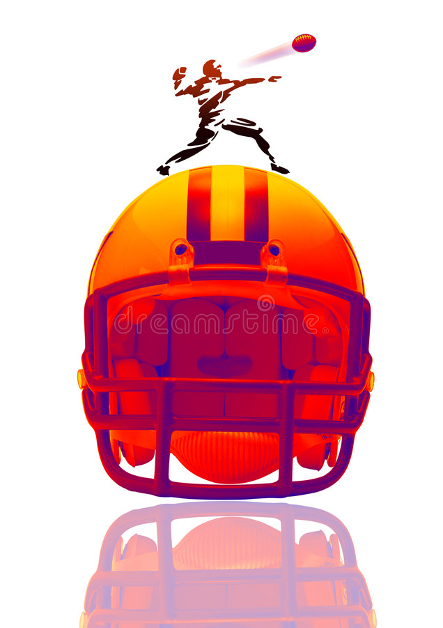 American football on white royalty free illustration