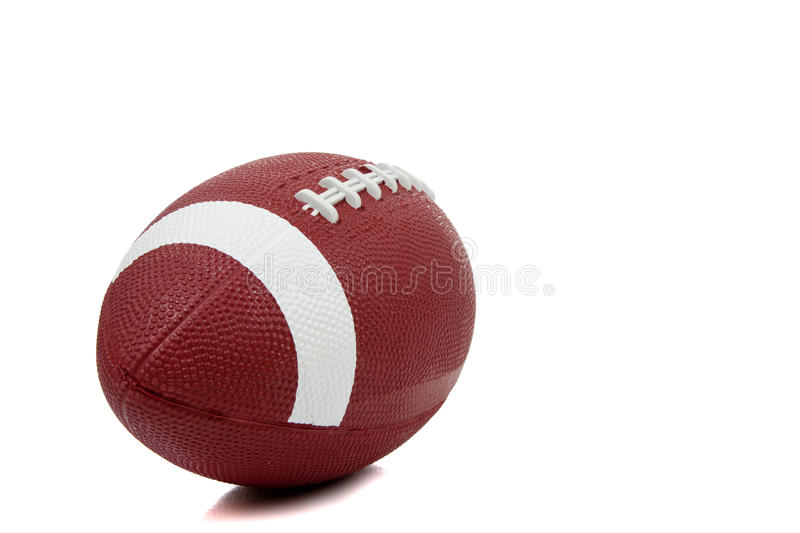 American football on a white background stock images