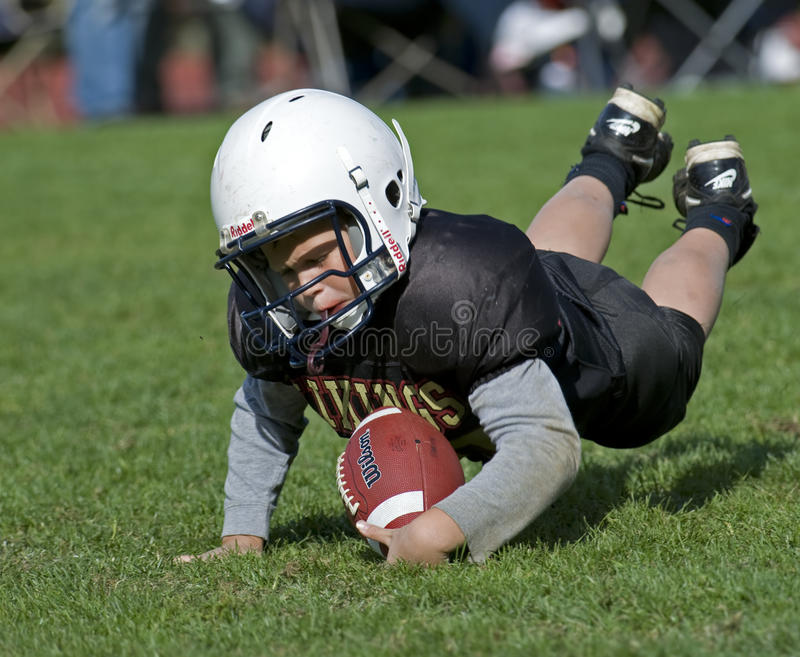 American football youth coverage royalty free stock images