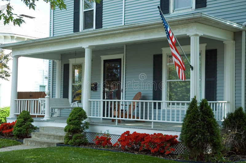 American Front Porch Stock Photography