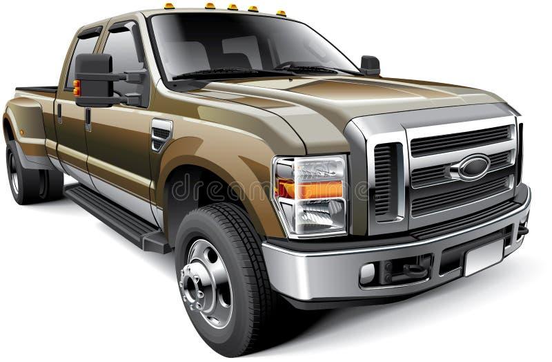 American full-size pickup truck royalty free illustration