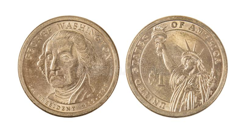 American George Washington Dollar Coin stock image
