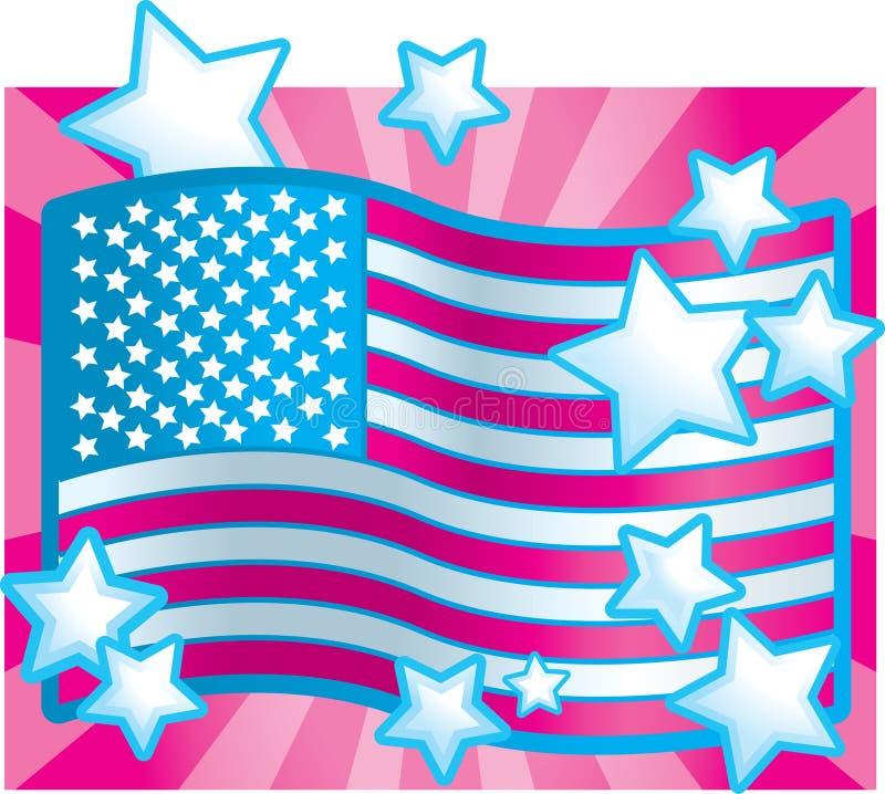 American Girl royalty free illustration