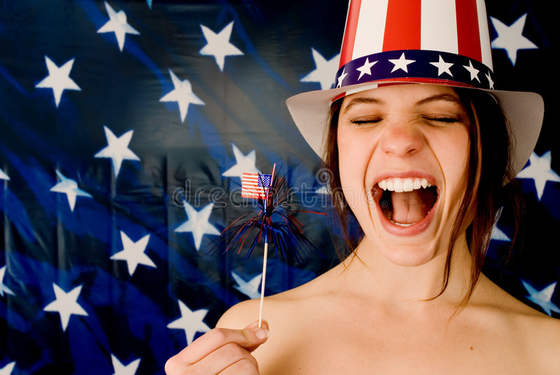 Download American Grrrl! stock photo. Image of independence, breasts - 2210646