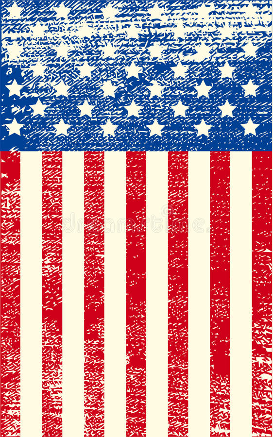 American Grunge Flag Royalty Free Stock Image