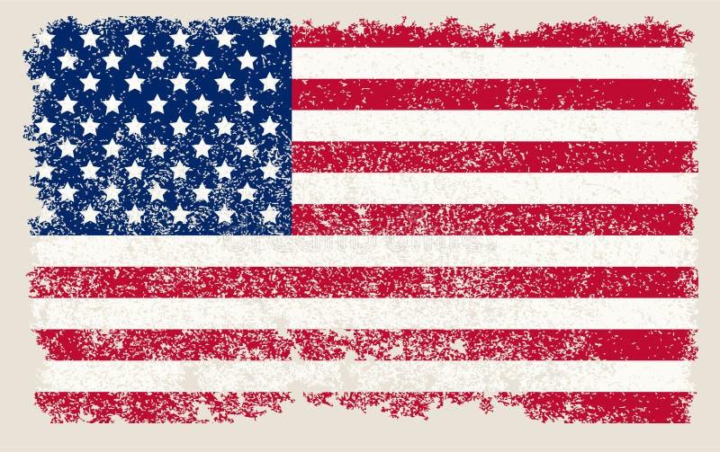 Download American grunge flag stock vector. Illustration of paper - 25886745