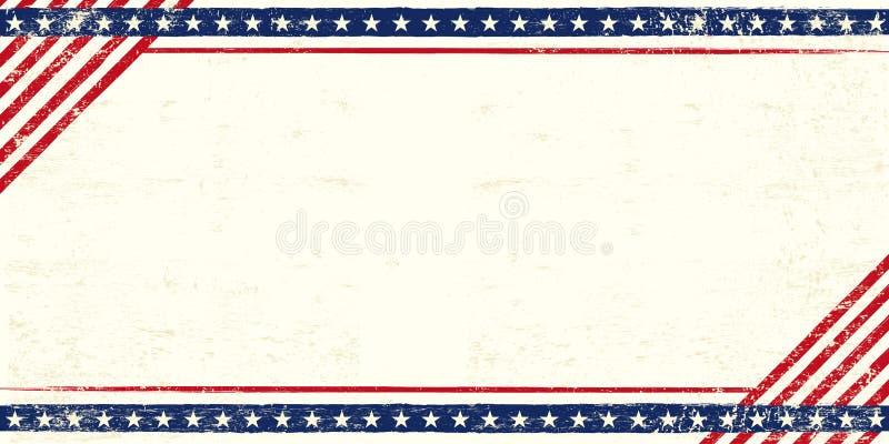 American grunge postcard royalty free illustration