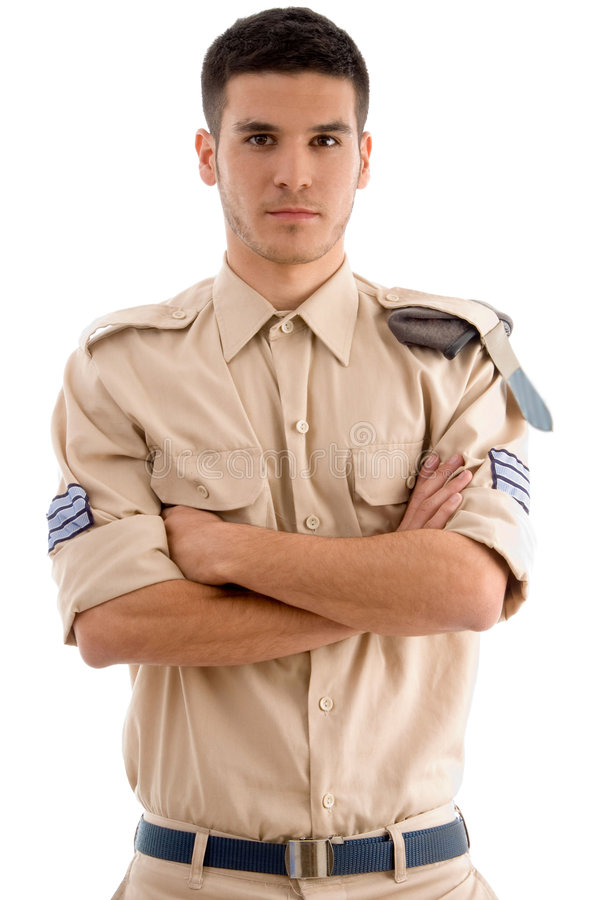 Free American Guard With Folded Hands Stock Photography - 7360092