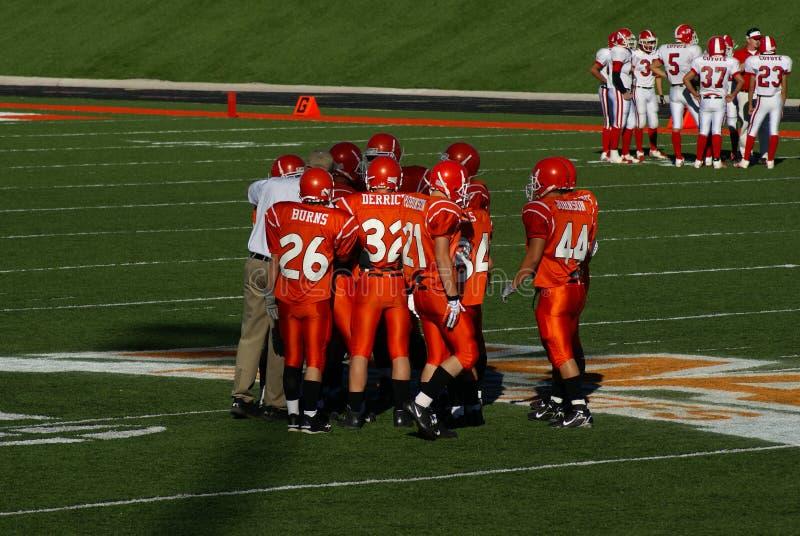 American High School Football. New Mexico State High School Football Championship Playoffs. Roswell Coyotes vs. Artesia Bulldogs, November 18, 2006 royalty free stock photography