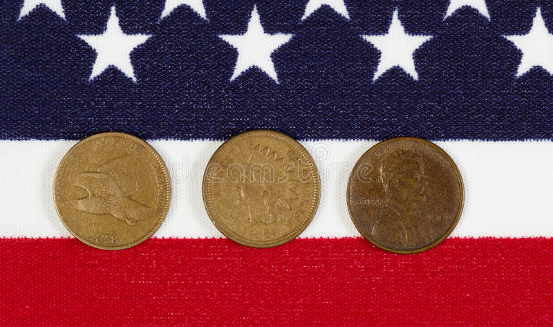 American History of the Once Cent Piece royalty free stock image