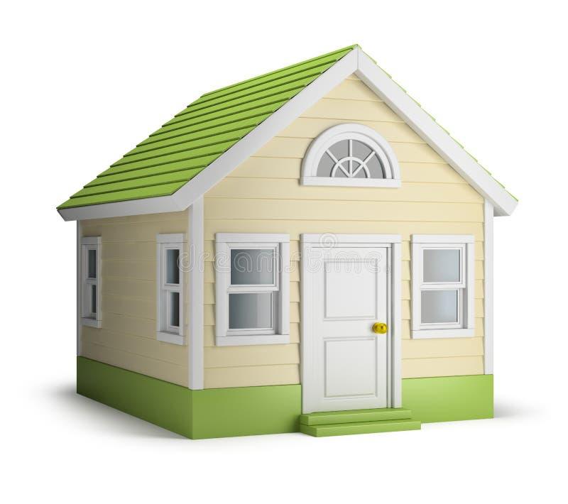 American house vector illustration