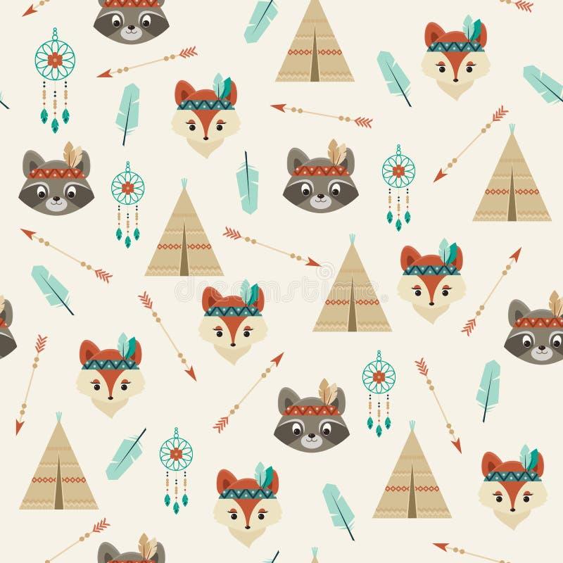 American iIndians seamless pattern stock illustration