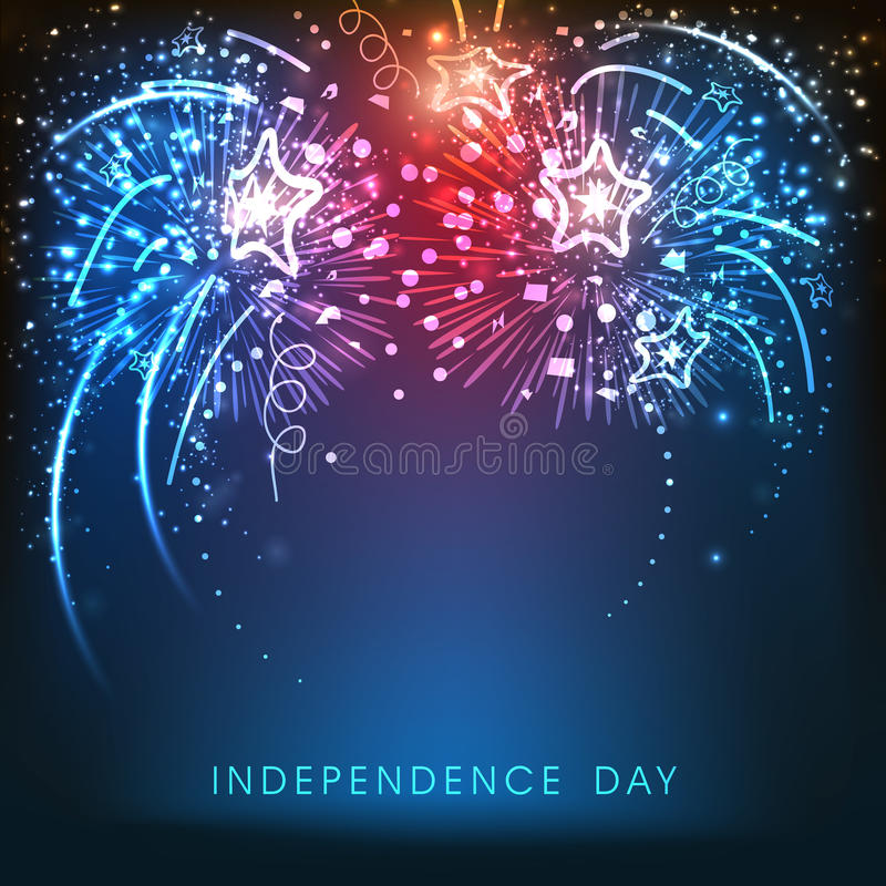 American Independence Day celebration background with fireworks. royalty free illustration