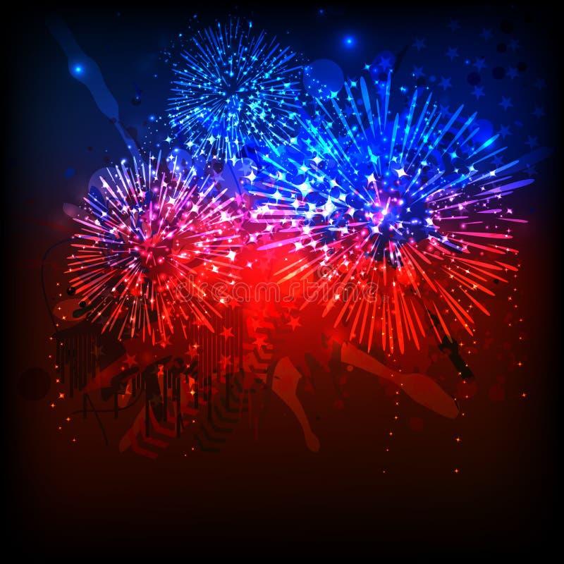 American Independence Day celebration. stock illustration