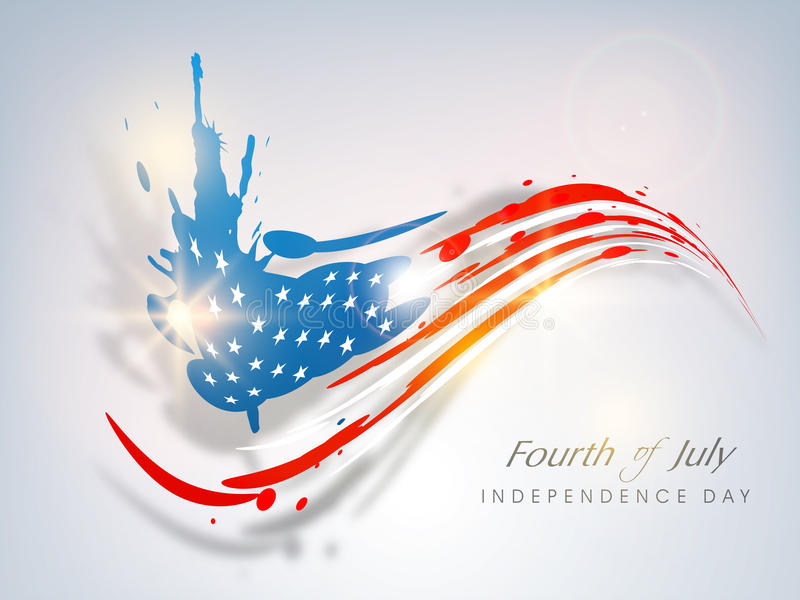American Independence Day concept. stock illustration