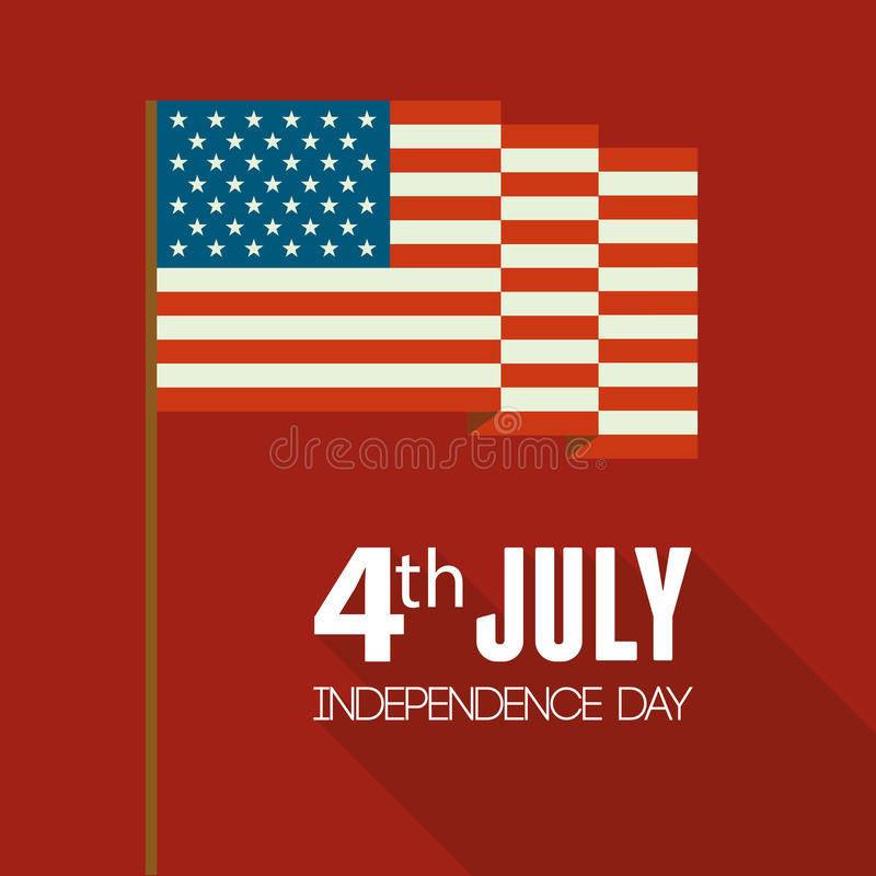 Download American Independence Day. Flat Design Stock Vector - Image: 41427334