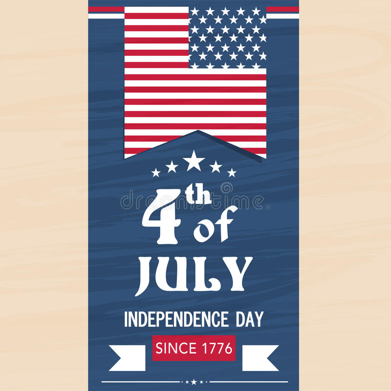 American Independence Day Flyer Or Template. Stock Illustration
