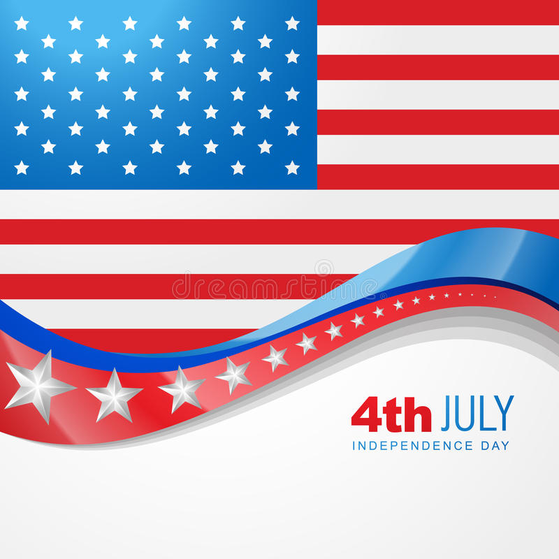 American independence day. Stylish american independence day design royalty free illustration