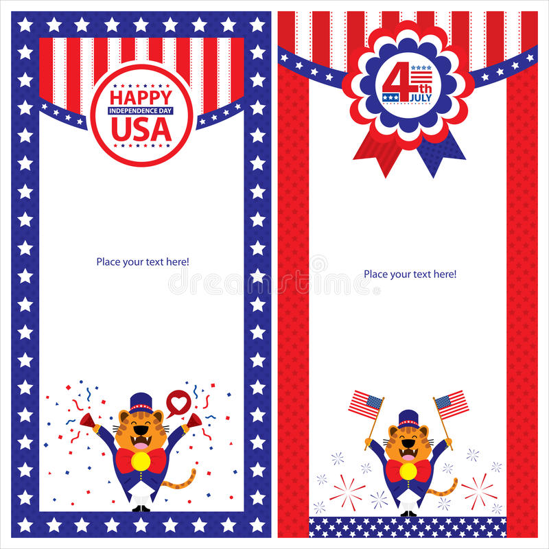 Download American Independence Day Template Card Sets. Stock Vector - Image: 41950651