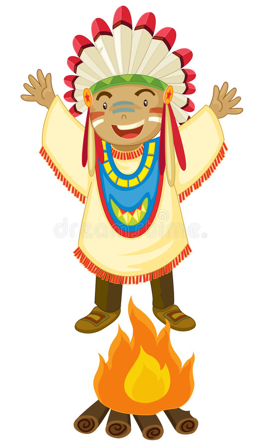 American indian royalty free illustration
