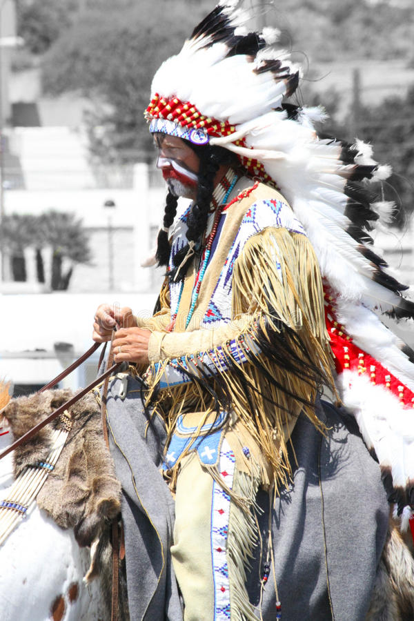 American Indian stock image