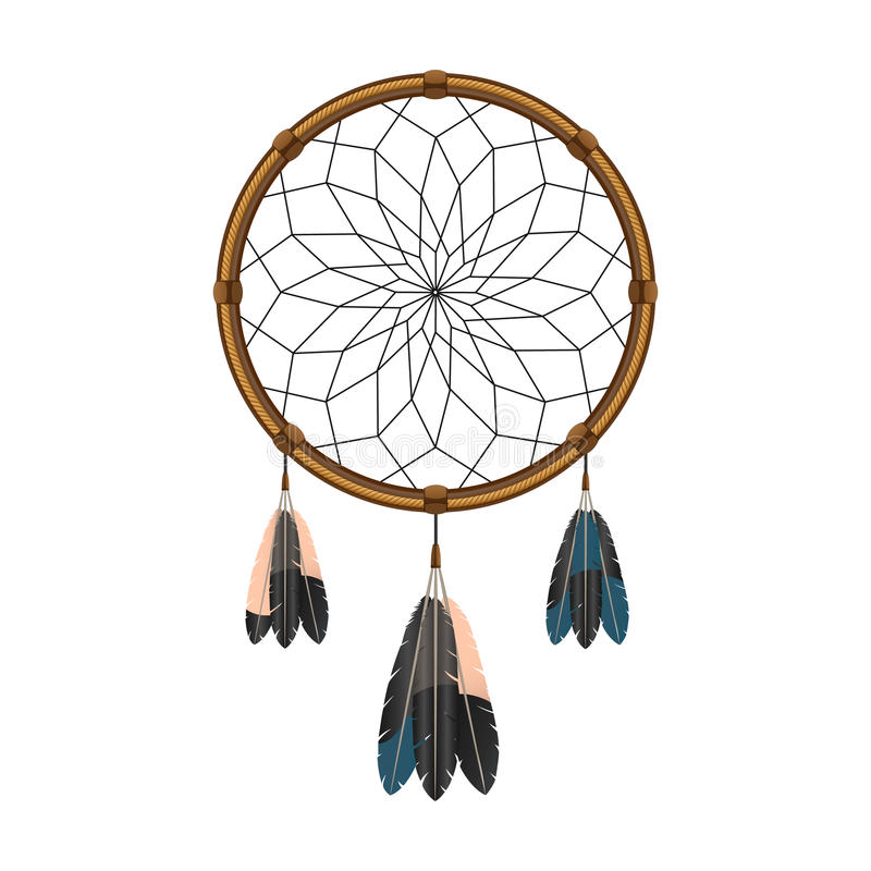 American indian dream catcher icon stock vector image for Dream catcher graphic