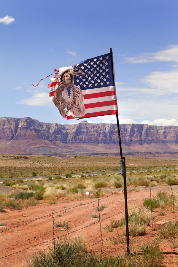 American Indian Flag Travel royalty free stock photos