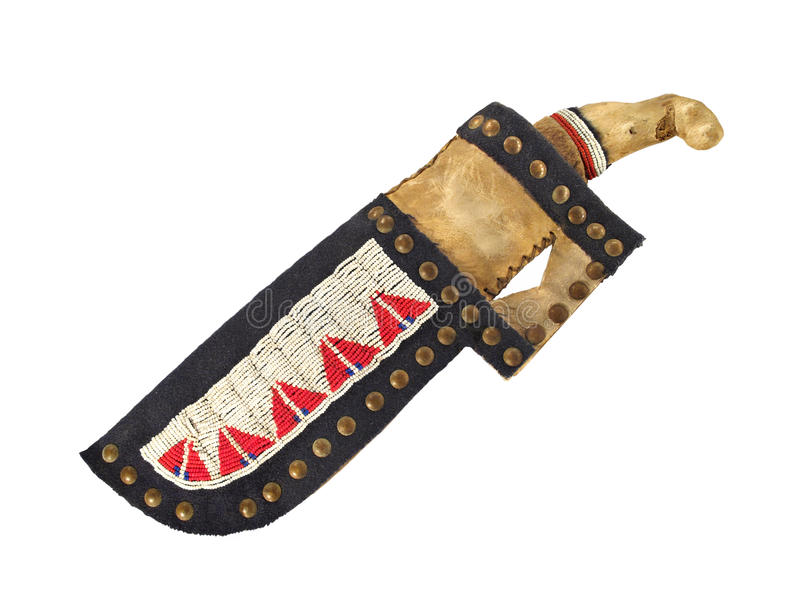 Download American Indian Knife And Sheath Isolated. Stock Illustration - Image: 26502036