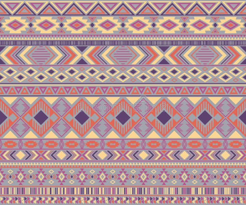 American indian pattern tribal ethnic motifs geometric vector background. vector illustration