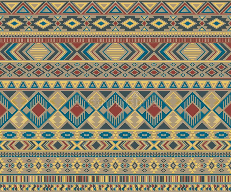 American indian pattern tribal ethnic motifs geometric vector background. royalty free illustration