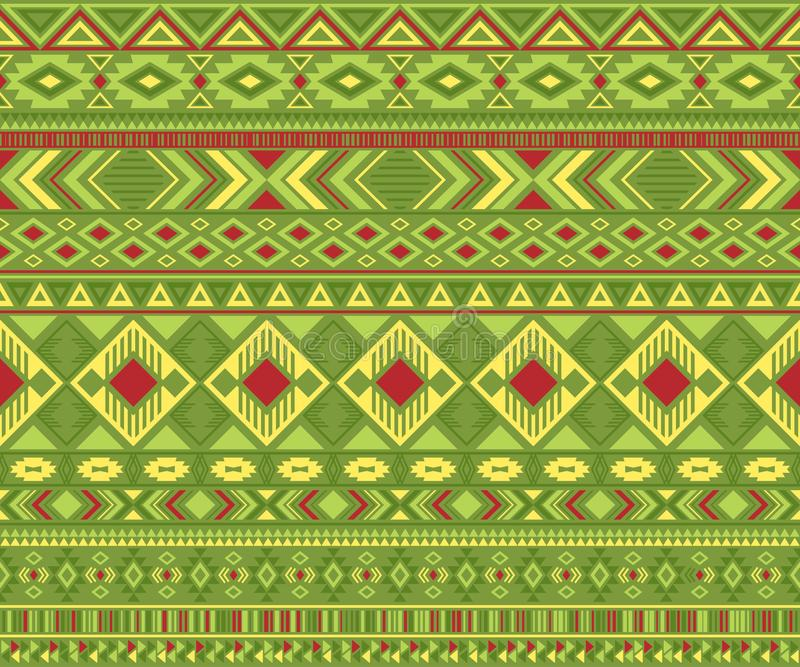 American indian pattern tribal ethnic motifs geometric vector background. stock illustration