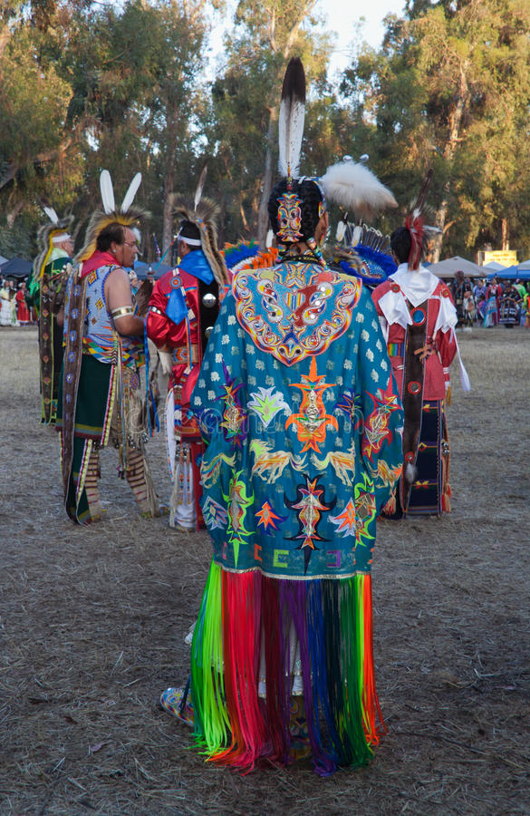 American Indian people at Stanford PowWow stock photo