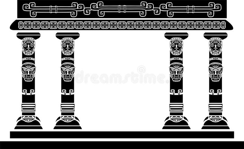 American Indian temple royalty free illustration