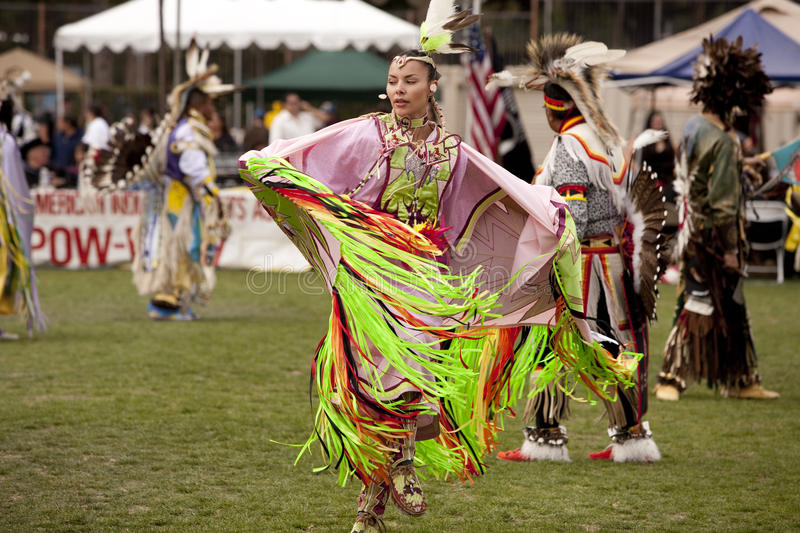 American Indian at UCLA Pow Wow royalty free stock image