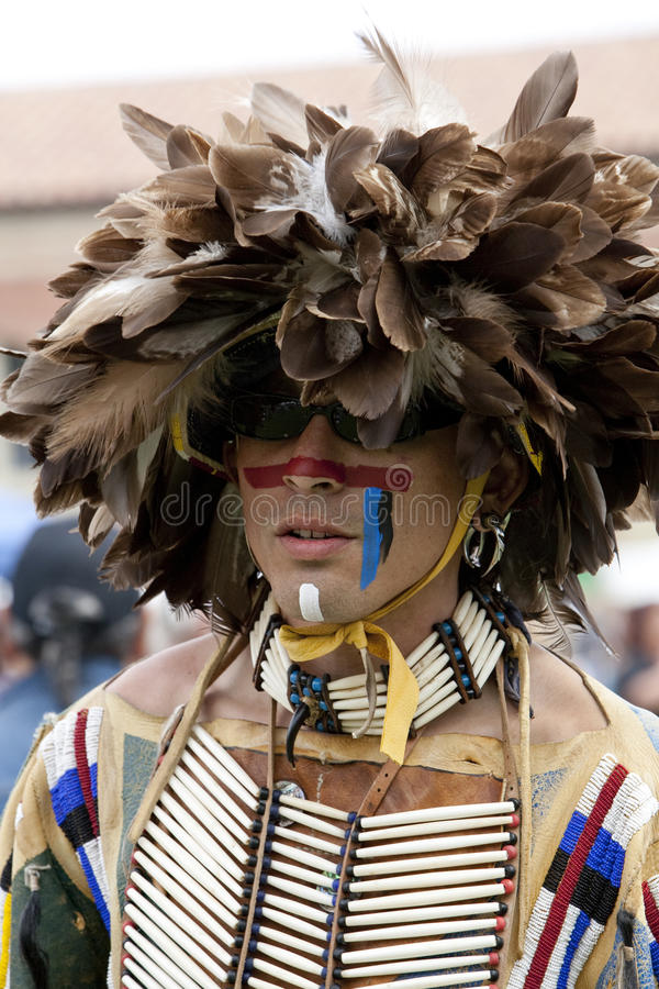 American Indian at UCLA Pow Wow royalty free stock images