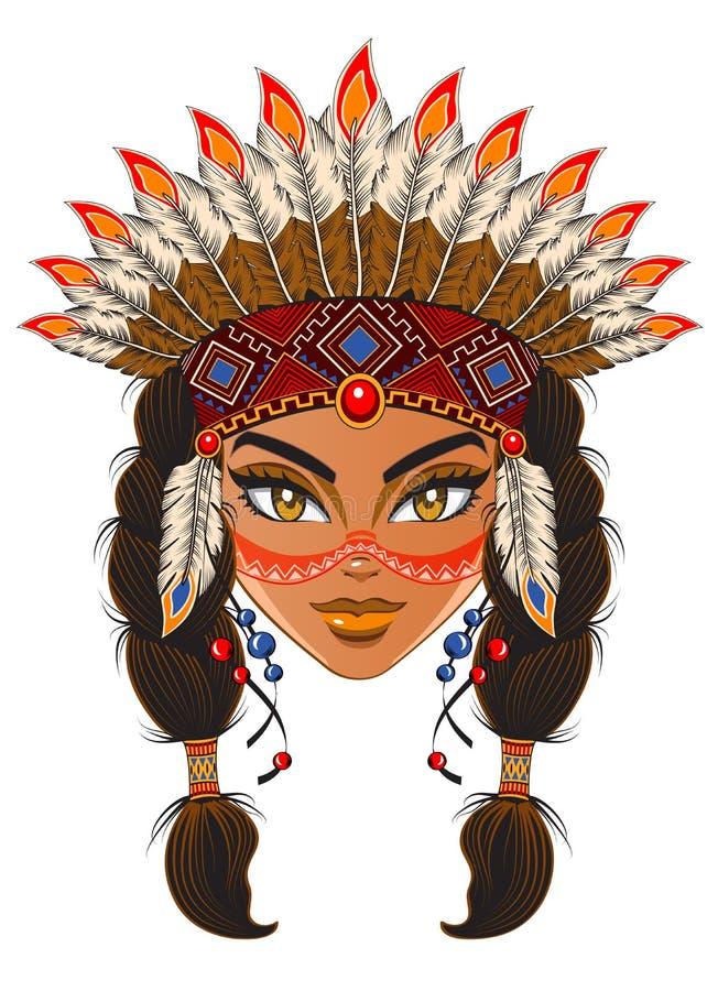 American Indian stock illustration