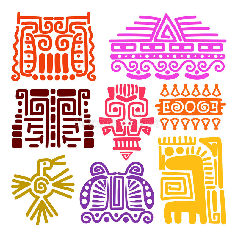 American Indians Ancient Totems Stock Vector Illustration Of