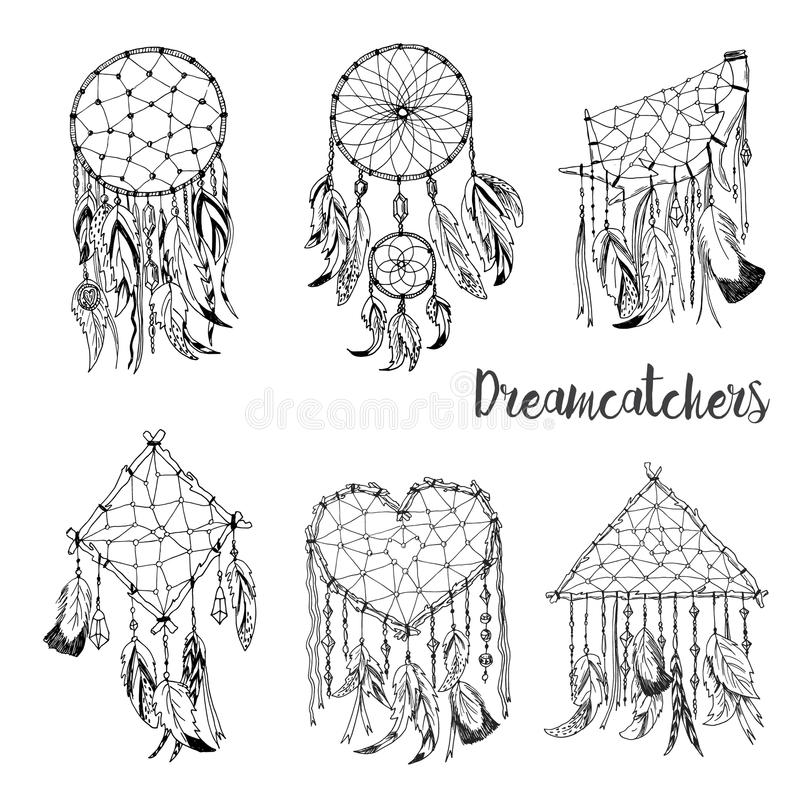 American Indians Traditional Symbol Dreamcatcher Stock Vector
