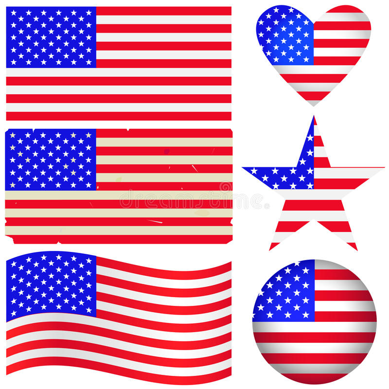 American labels set.